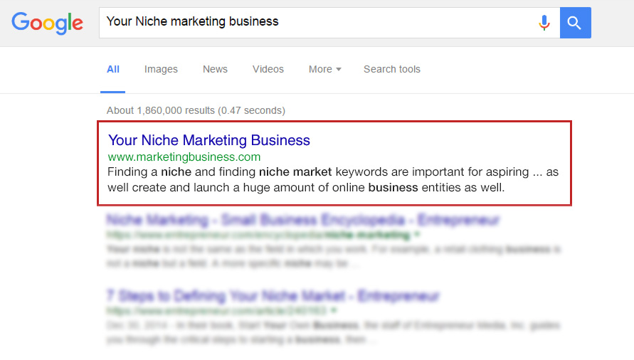 Your Business As First Result in Google